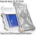 Diseño Original THOR IRONMAN Armadura Gran Cantidad de Polvo de Aluminio del Metal del teléfono bolsa caso de la cubierta para sony xperia z1 z2 z3 z4 z5 compact Premium