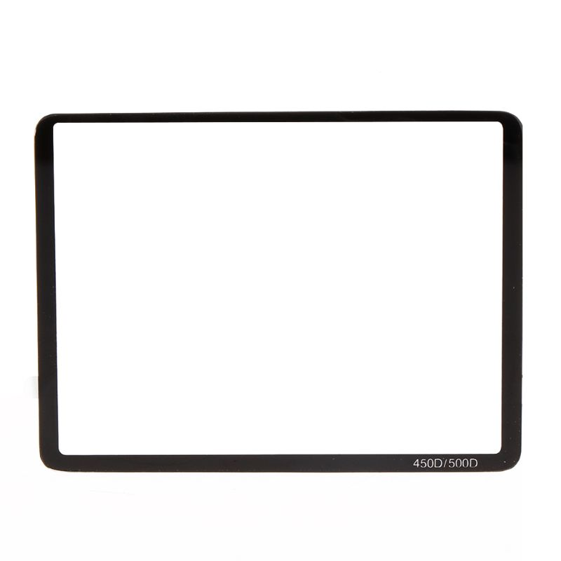 OOTDTY New Clear LCD Screen Protector Tempered Glass Film For Canon 450D 500D Camera Accessories image