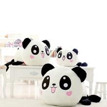 цена на 25cm plush toy panda doll kawaii big head cartoon plush toy pillow pillow toy cushion pillow gift children home decoration