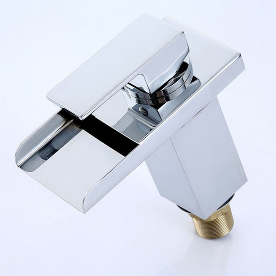 Solid Brass with Chrome Waterfall Basin Faucet Waterpower Color ...