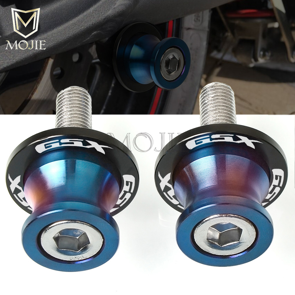Motorcycle Swingarm Frame Stands Rear Swingarm Sliders Spools 8MM For SUZUKI GSX650F <font><b>2008</b></font> GSX750F Katana 1991-2006 <font><b>GSX</b></font> 650F <font><b>750</b></font> image