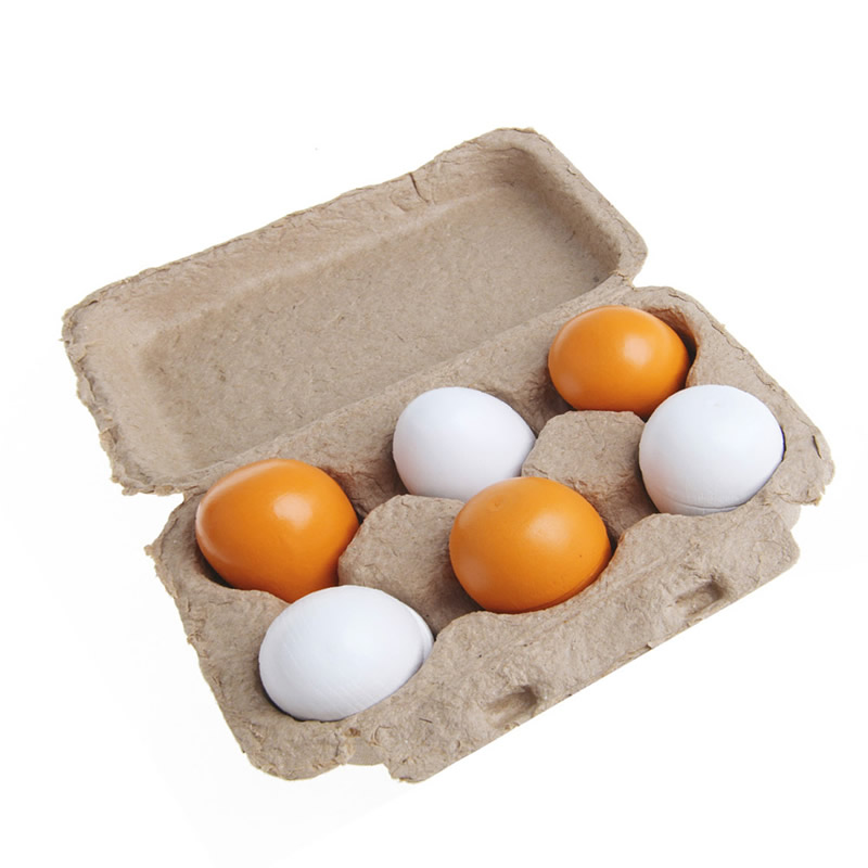 6pcs Wooden Eggs Yolk Pretend Play Kitchen Food Cooking Kid Child Toy Gift Set wooden kitchen toys for girls kids pretend play food eggs baby toys set yolk food eggs preschool educational toys for children