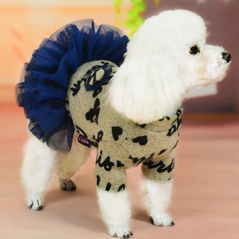 Pet <font><b>Dog</b></font> Clothes for Small <font><b>Dog</b></font> <font><b>Wedding</b></font> <font><b>Dress</b></font> Skirt Puppy Winter Clothing Pet Puppy Outfit Puppy Clothes <font><b>Dog</b></font> <font><b>Dress</b></font> image