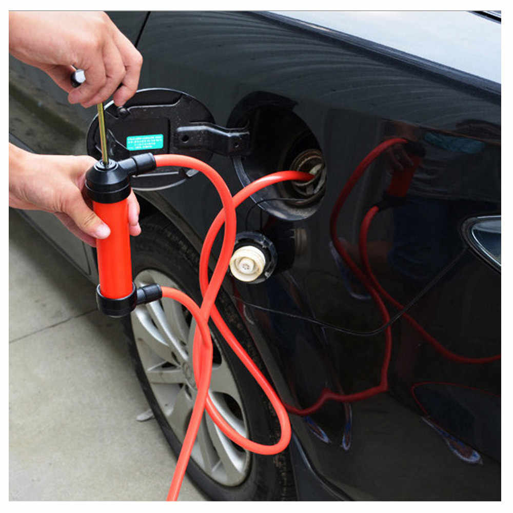 universal Portable Manual Oil Pump Siphon Tube Car Hose Fuel Gas Extractor Transfer Sucker Inflatable Pump