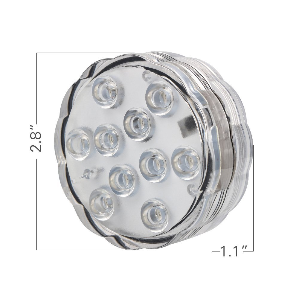 4 Pcs * 2.8 inch lampu bawah air, Dipimpin dasar cahaya untuk pesta pernikahan, Centerpiece Remote Controlled bertenaga baterai vas, Pencahayaan