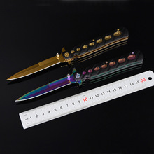Colorful Army Stainless Steel Diving Folding Blade Tactical Hunting Knife Outdoor Survival Camping Pocket Knife