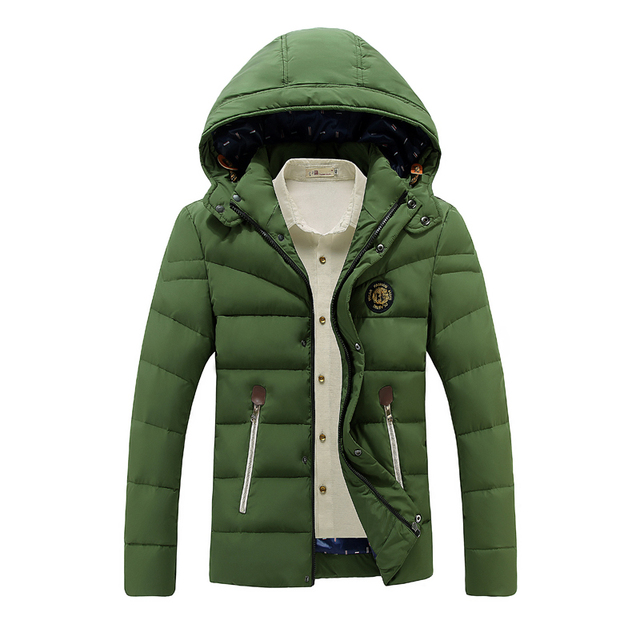 2016 New Fashion White Duck Down Jacket Winter Jacket Men Hooded Casual Warm Brand Parka Outerwear Male DJ022