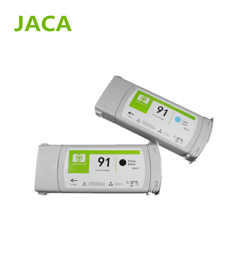 Фотография JACA Compatible 91 ink Cartridge for HP Designjet Z6100 printer Compatible Ink Cartridge with 8colors with import chip in 775ml