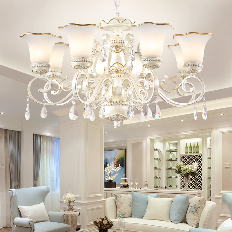 Retro restaurant crystal chandelier villa living room crystal lamp modern Nordic chandeliers American iron bedroom hanging lamps 2017 luminaria american retro crystal iron chandelier living room bedroom restaurant golden vintage art lighting free shipping