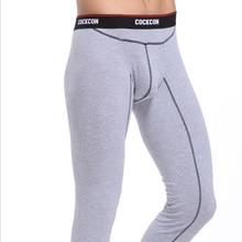 Free Shipping Men's basic Cotton Thermal Underwear Bottom Long John Underpants Leggings Tights Free Shipping - 10 Colors Choice