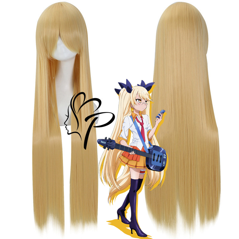 Anime Show By Rock !! Cosplay Wig Plasmagica Retoree 100cm Long Straight Blonde Synthetic Hair For Adult