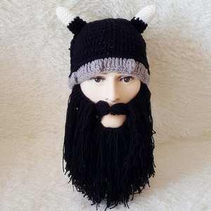 00359b592577 Favolook Beard Hats Rasta Knit Warm Cap Funny Mask Beanies