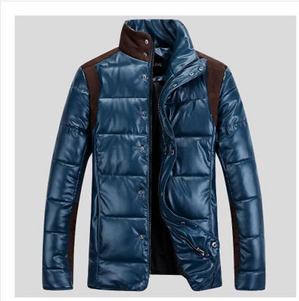2014 font b Men b font warm winter leather font b jacket b font male plus