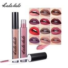 KADALADO Brand Makeup Matte Liquid  Lip Gloss Waterproof Cosmetics stick Paint Lipstick Long Lasting Make Up
