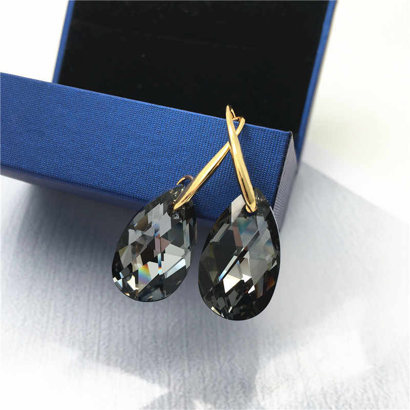 Ms Betti 2018 high quality Crystals From Swarovski angel teardrop cheap hook earrings Bijoux Jewelry suplies for women dropship