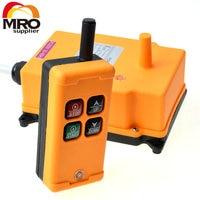 12 24VDC 1 Tansmitter 4 Channels 1 Speed Control Hoist Industrial Wireless Crane Radio Remote Control
