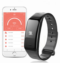 Сердечного ритма Смарт часы-браслет сердечного ритма Мониторы шагомер Smart Band Беспроводной Фитнес трекер Браслет для iOS и Android