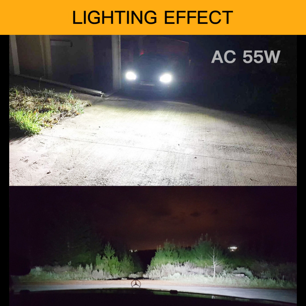 1 Set AC 55W H7 Xenon Lampa H1 H3 H4 H11 H8 H9 9005 9006 881 D2S HID - Avtomobil işıqları - Fotoqrafiya 5