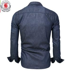 Image 2 - Fredd מרשל 2019 גברים מנוקדת ג ינס חולצה ארוך שרוול 100% כותנה באיכות גבוהה מזדמן חולצה זכר חברתי שמלת חולצות 3XL 120