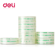 hot deal buy deli 8 rolls/pack transparent clear stationery tape 18mm width office adhesive tape strong sticky office school supplies