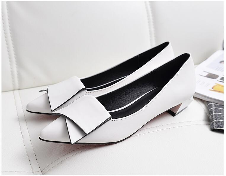18 Leather Flat Shoes pointed toe With low Woman Loafers Cowhide Spring Casual Shoes Women Flats Women Shoes B222 14