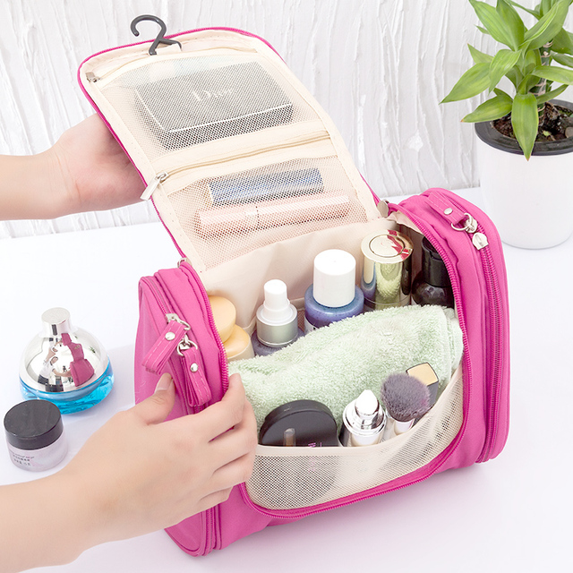 Cosmetic Toiletry Storage Bags Organizer Women's Men's Beauty Makeup Towel Box Case Home Outdoor Travel Overnight Organization 3