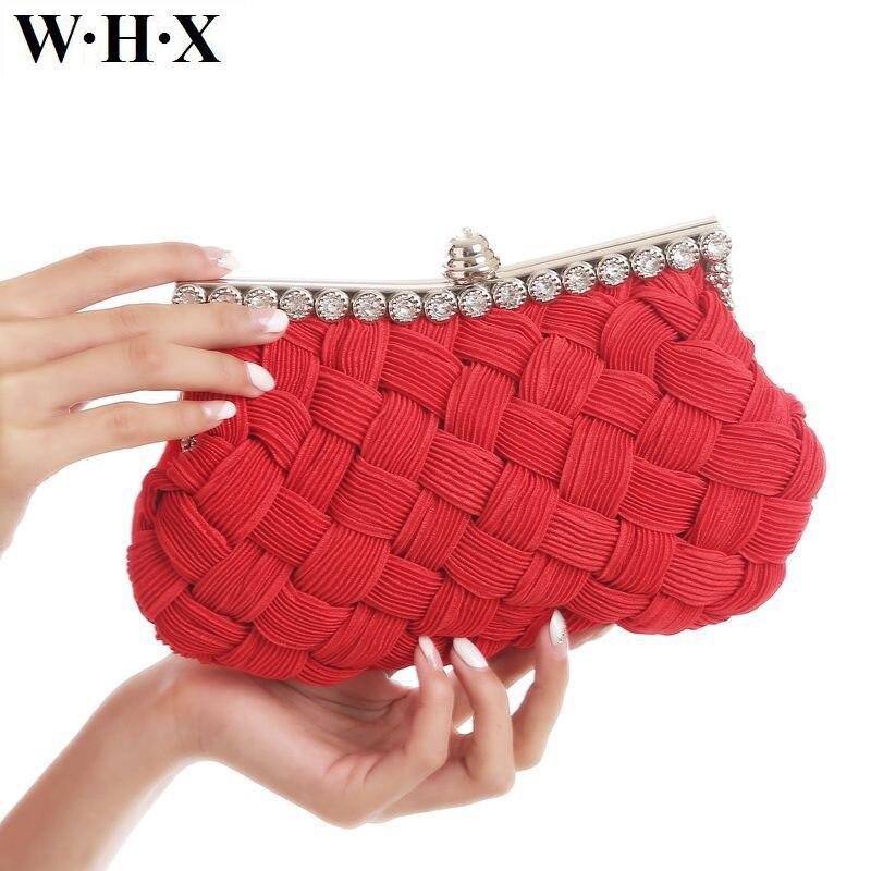 WHX Fashion Retro Women Clutch Bag Evening Bag For Dinner Wedding Female Lady Girls Tote Cross Body Messenger Bags Classic Purse