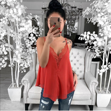Summer New Women Sexy Lace Camis Sleeveless Tops Black V-neck Characteristic Fashion Casual Nigth Club Vest Camisole 2-color F3 2019 novel summer women camisole fashion sexy simple solid color vest sling loose v neck lace sleeveless camisole tops