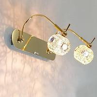 Badkamer led wandlamp, 2 lichten, Moderne metalen gouden electroplating, voor badkamer woonkamer thuis, lamp inbegrepen, G4
