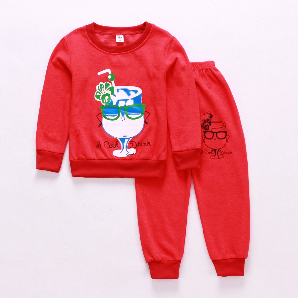 Spring autumn fashion baby boys girls hoodies sport suit Children Cute Drinks clothing set  toddler casual kids tracksuit set spring autumn new fashion baby boys girls hoodies sport suit children clothing set toddler casual kids tracksuit set