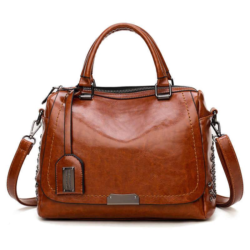 Genuine Leather Women Handbag Brand Fashion Female Bag Women Handbag Vintage Messenger Bag Letter Shoulder Bags Luxury New C1038