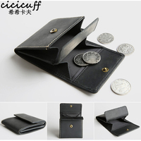CICICUFF Coin Purse Business Card Case Genuine Leather Men Mini Purse Women Coin Pouch ID Bank Credit Card Holder Wallets