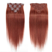 Machine Made Remy Straight Hair Clip In Human Hair Extensions Natural Hair 8 Pieces/Set Full Head Sets 120G Ship Free