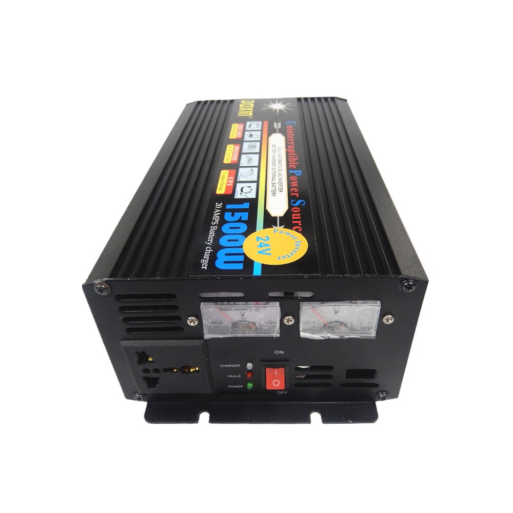 цена на 1500W Modified Sine Wave UPS inverter DC 12V to AC 220V Power Inverter With 20A fast battery charging function