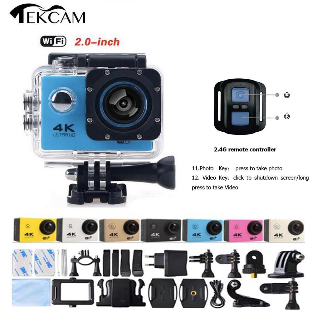 ФОТО Tekcam Ultra HD 4K F60R 1080P Action Sports Camera WiFi Waterproof  with Remote Control