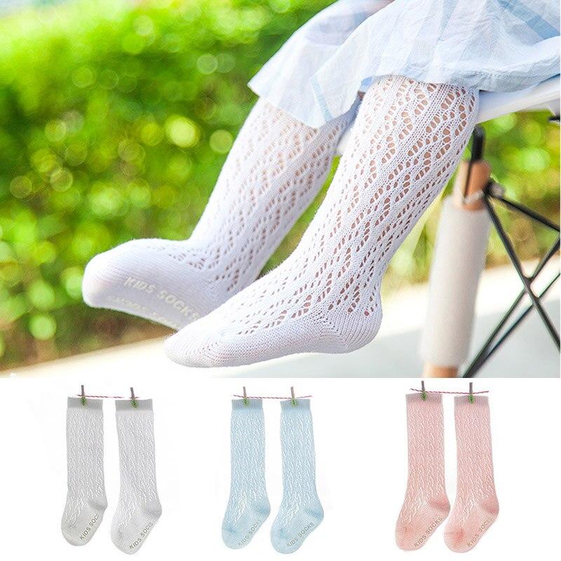Mutter & Kinder Schneidig Infant Kniehohe Socken Mesh Baumwolle Baby Socken Für Sommer Atmungs Baby Mädchen Socken Anti Rutsch Niedlichen Baby Socken Socken & Strumpfhosen