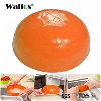 WALFOS food grade Silicone kitchen drain basket rice washing vegetables colander fruit baskets microwave dish cover
