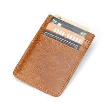 Wholesale Genuine Leather Credit Card Holder Slim Wallet Men Luxury Design Business Organizer Id Case