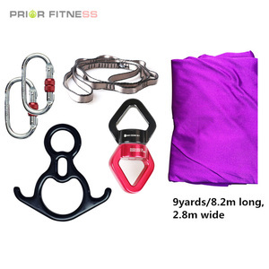 Image 3 - PRIOR FITNESS 8.2M Top Quality 9 Yards Yoga Aerial Silks Set For Acrobatic Fly Dance Performance Equipment inversion hammock