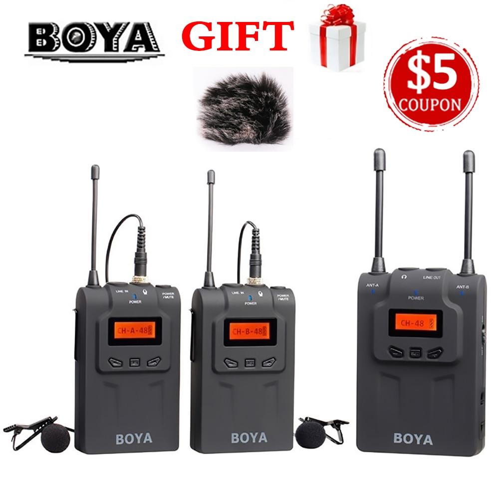 BOYA BY-WM6 / BY-WM5 / BY-WM8 UHF Wireless Microphone System Omni-directional Lavalier Microphone for ENG EFP DV DSLR boya by wm6 by wm5 by wm8 uhf wireless microphone system omni directional lavalier microphone for eng efp dv dslr