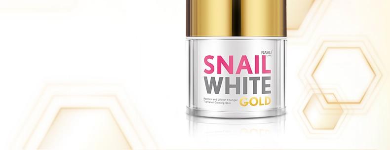 snail white gold cream namu life - NAMU LIFE SNAIL WHITE GOLD FACIAL CREAM 50 g