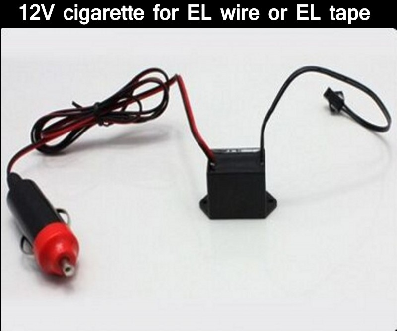 12V cigarette Driver/Inverter Car Vehicles' accessories for up to 5meters led neon Glow EL Wire tape