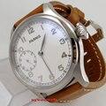 Белые часы с циферблатом 47 мм parnis asia 6497  мужские часы эксклюзивные P89