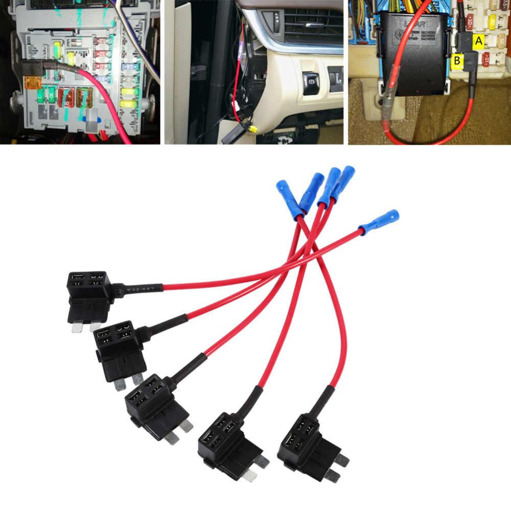 5 шт./компл. дополнительная схема Средний отвод Копилка назад стандартная Контактная Пластина предохранитель Boxe держатель ATO ATC