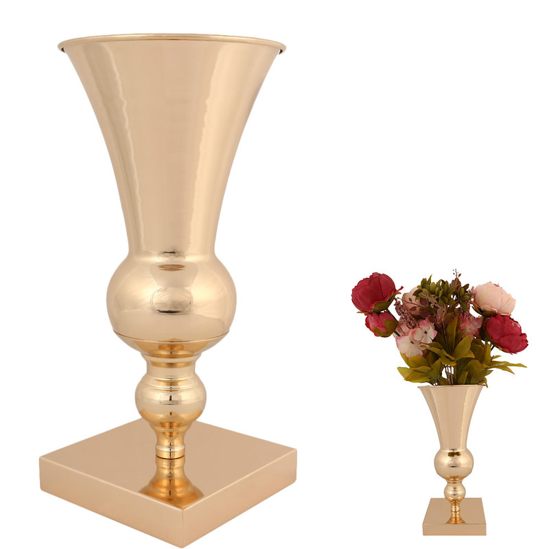 Vintage Europe Flower Plant Vase Iron Ornaments Tabletop Floor Home Living Room Wedding Party Event Decoration Vases