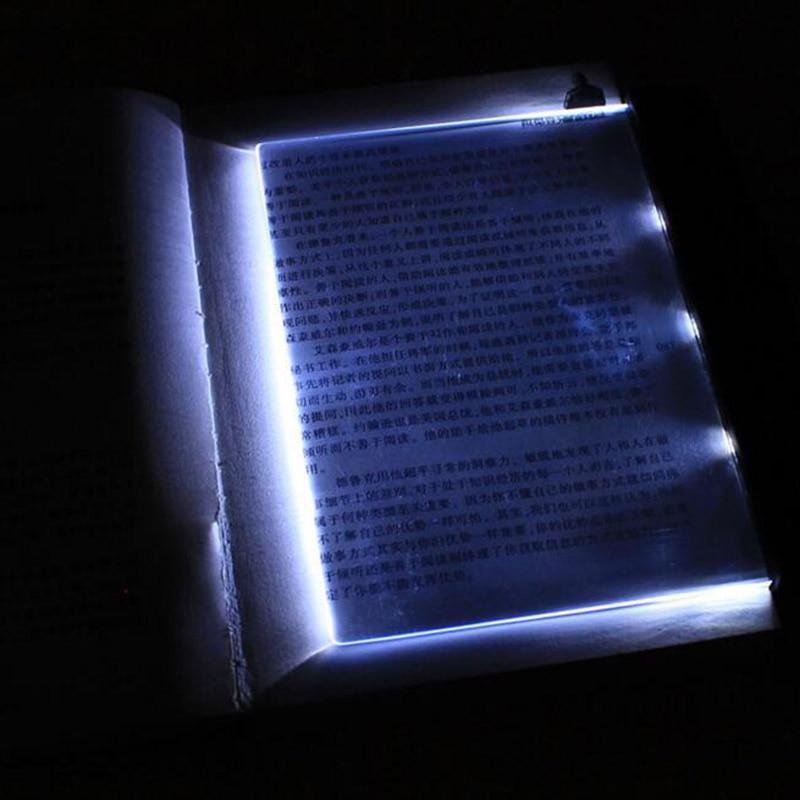 LED Book Light Reading Night Lights Flat Plate Eyes Protect Car Travel Panel Desk Lamp ALI88