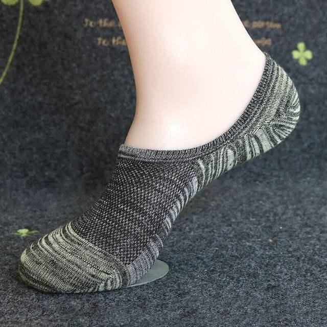 Men's stripes socks mesh breathable cool boat socks man off white cotton ankle socks white short socks meias masculino