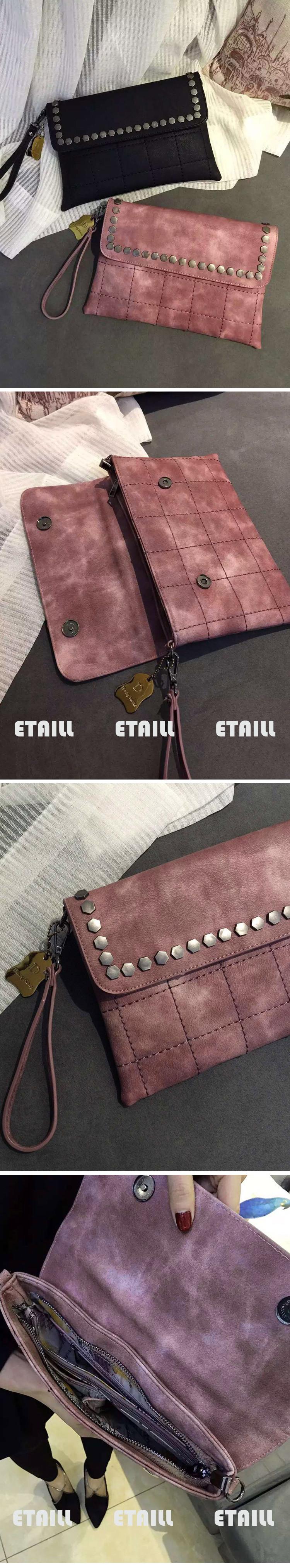 Punk Style Rivet Envelope Bag