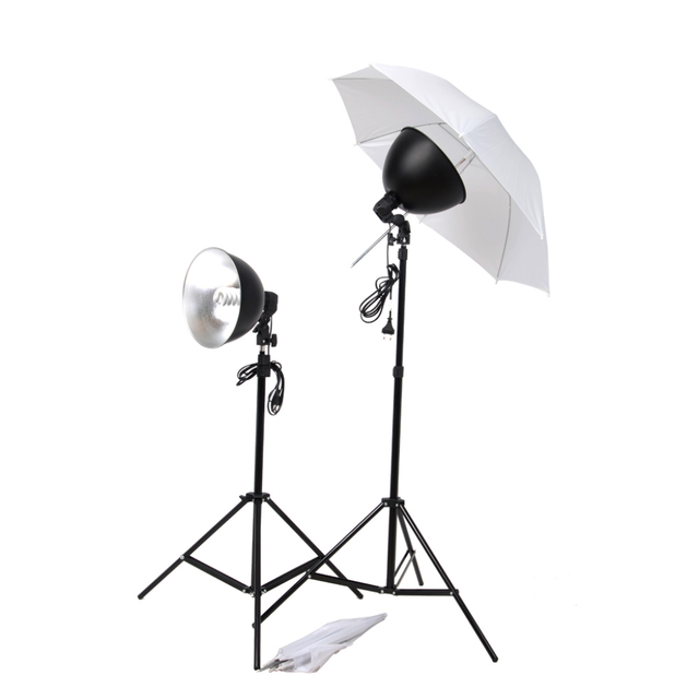 E27 5500k Photography Lighting Accessories 2 Tripods 2 White