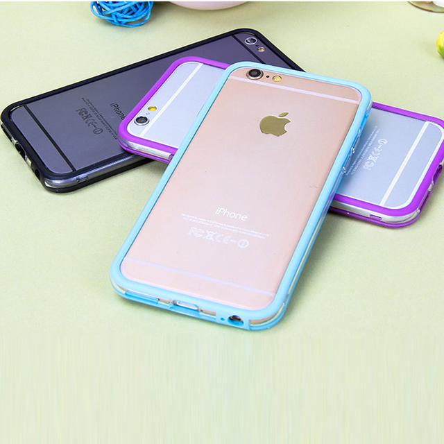 finest selection 461b1 710a3 US $1.21 |Rosany Soft Plastic +Silicone Bumper Frame Cover Side Protection  For iPhone 7 Plus 5 5s SE Case For iphone6 6s Plus Phone Cases-in Phone ...